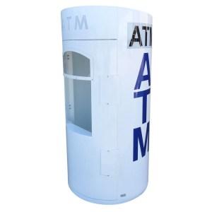 Outdoor ATM Kiosk White